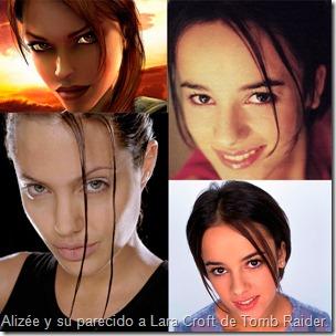 Alizee y su parecido a Lara Croft de Tomb-Raider