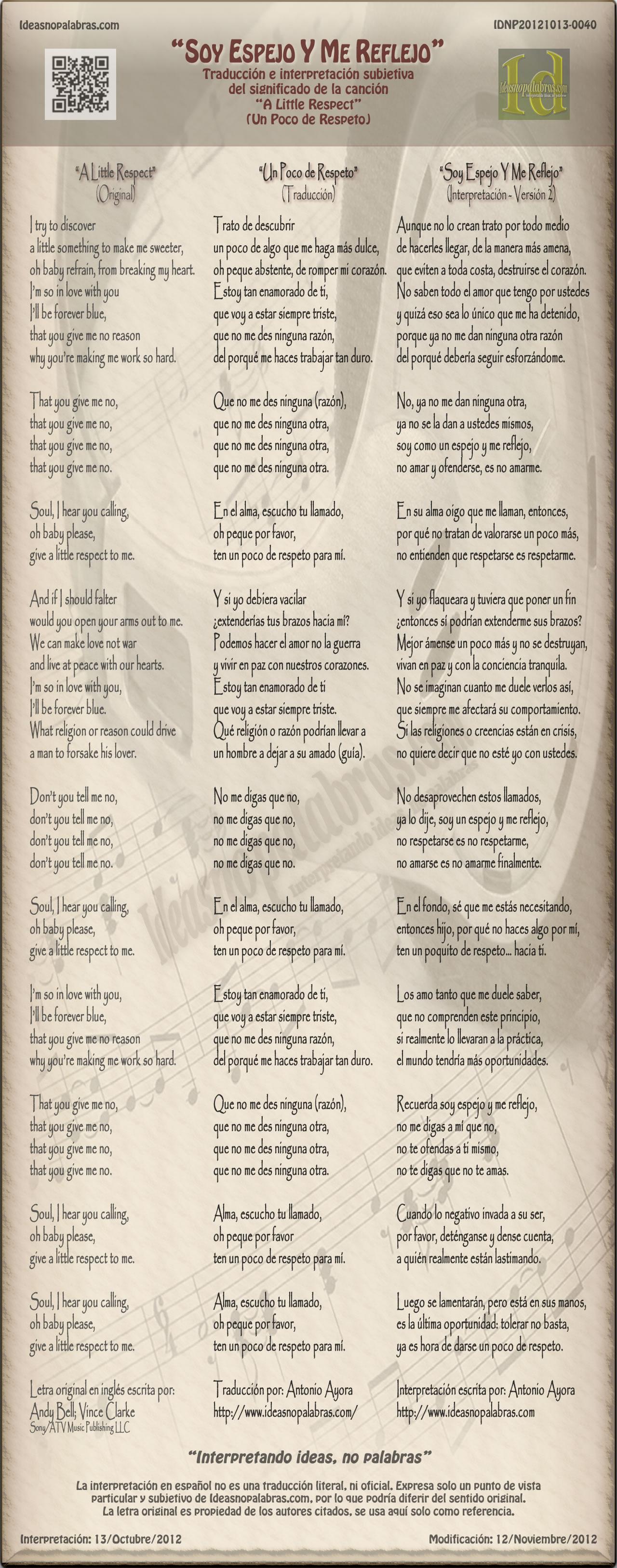 IDNP20121013-0040 Traducción Un Poco de Respeto A Little Respect